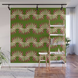 Abstract floral motif - seamless pattern Wall Mural
