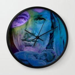 Le CLASH - turquoise Wall Clock