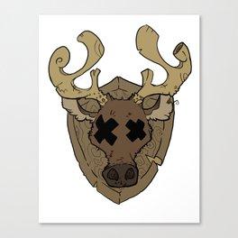 Stupid Deer Canvas Print