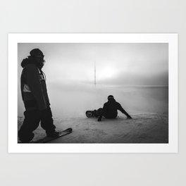 Distant // Storm Art Print
