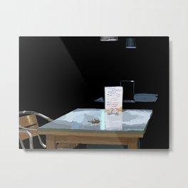 Dark Table Metal Print