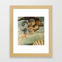 "Sandro Botticelli ""The Birth of Venus"" 3. Zephyr and his companion Framed Art Print"