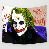 joker Wall Tapestries featuring joker by Saundra Myles