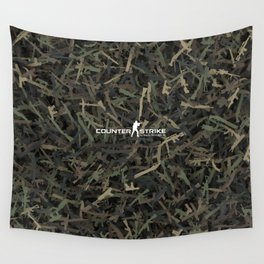 Counter strike weapon camouflage Wall Tapestry