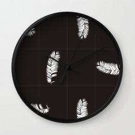 Palms Black&White #society6 #decor #buyart Wall Clock