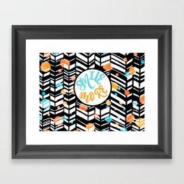 Smile More Framed Art Print