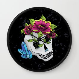 Crystals, Roses, and a Skull Wall Clock