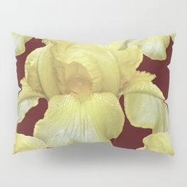 PALE YELLOW IRIS ON BURGUNDY COLOR Pillow Sham
