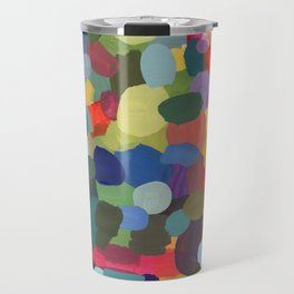 Painted abstract colourful pattern Travel Mug