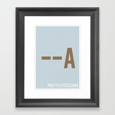 Pretty Little Liars - Minimalist Framed Art Print