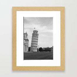 Scanned negative of the Leaning tower of Pisa Framed Art Print