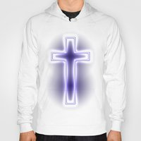 metallic Hoodies featuring Metallic Cross by Alli Vanes