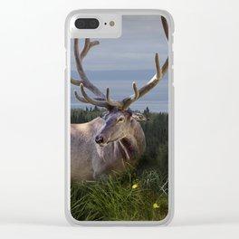 Elk or Wapiti Photographic Nature Portrait Clear iPhone Case