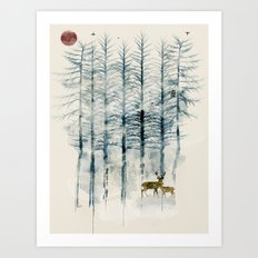 the blue forest Art Print