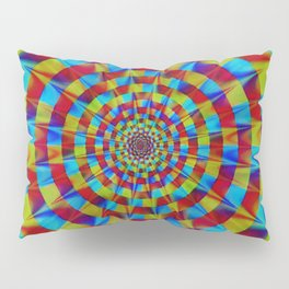 ZOOM #1 Vibrant Psychedelic Optical Illusion Pillow Sham