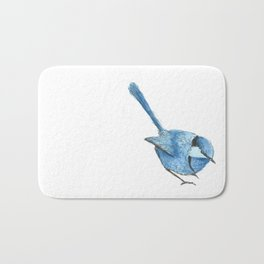 BLUE FAIRY WREN Bath Mat
