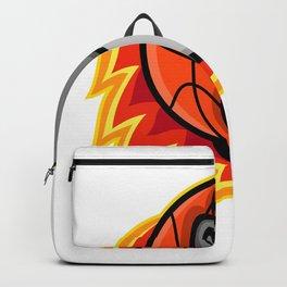 Bulldog Blazing Basketball Mascot Backpack