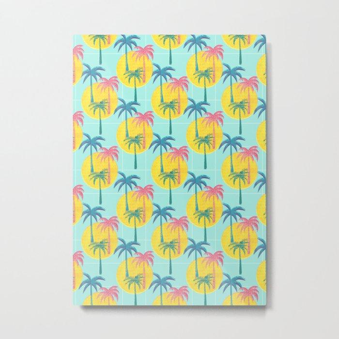 Retro Palms Metal Print