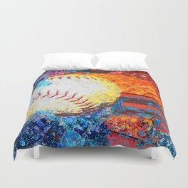 Colorful Baseball Art Duvet Cover