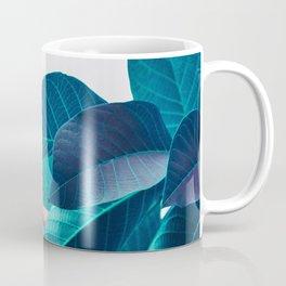 Pink and Blue Leaf Coffee Mug
