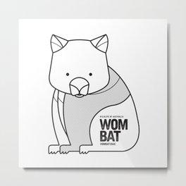 Wombat, Wildlife of Australia Metal Print