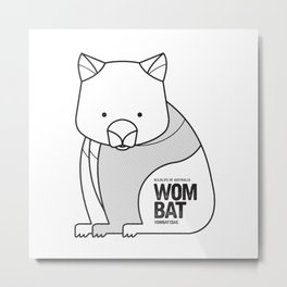 Wombat, Wildlife of Australia Metal Print