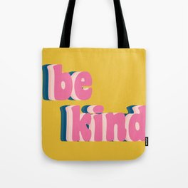 Be Kind Inspirational Anti-Bullying Typography Tote Bag