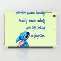 lilo and stitch iPad Cases featuring Lilo & Stitch - Ohana Quote by MarcoMellark