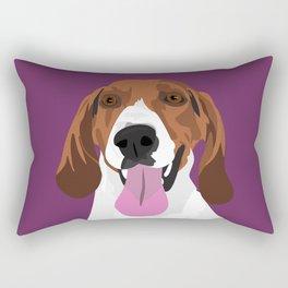 Cali the hound Rectangular Pillow