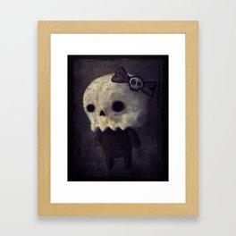 Lil' Miss Skellybones Framed Art Print