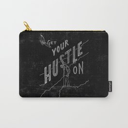 """""""Hustle On"""" Mountain Hiker (black) Carry-All Pouch"""