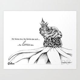 GIDEON Frog Prince Print Art Print