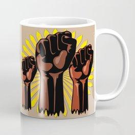 Black Power Raised Fists Coffee Mug