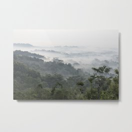 Borobudur view - foggy sunrise Metal Print