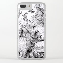 Bear with me Clear iPhone Case