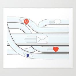 Social Media Tube Art Print