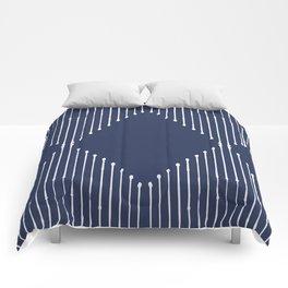 Geo (Navy) Comforters