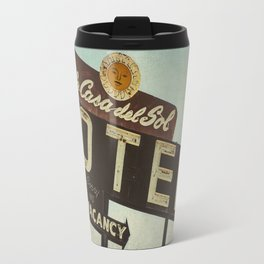 La Casa Del Sol Vintage Motel Sign Travel Mug