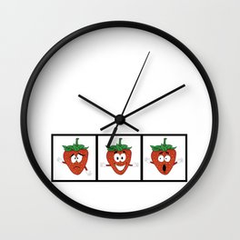 The Many Faces of Daryll Strawberry - An Emotional Strawberry Wall Clock