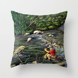 A Richly Find: Deadwood Gold Strike 1874 Throw Pillow