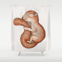 Hibernating squirrel Shower Curtain