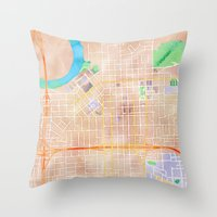 alabama Throw Pillows featuring Montgomery, Alabama by Emily Day