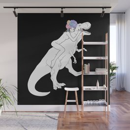 Dinosaur Girl Wall Mural