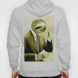 Gentleman Sloth lighting a cigarette Hoody