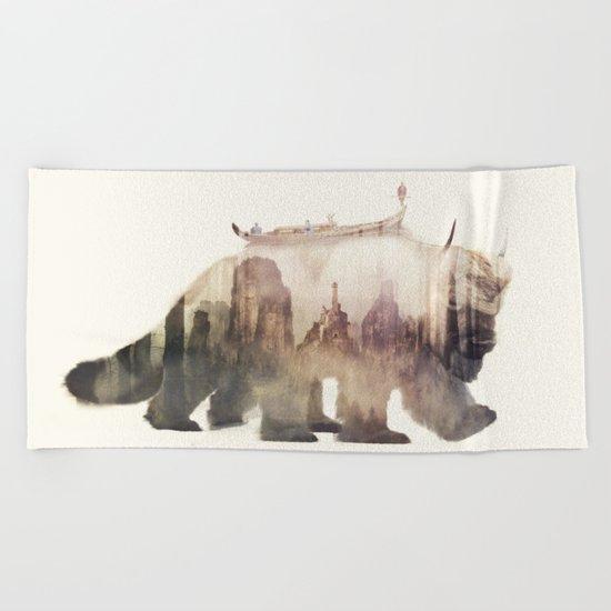 Sky Bison (Appa) Beach Towel