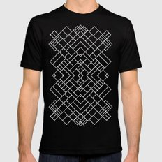 PS Grid 45 Black Mens Fitted Tee Black MEDIUM