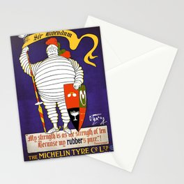 vintage travel poster michelin Stationery Cards