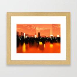 Q-City Zero Framed Art Print