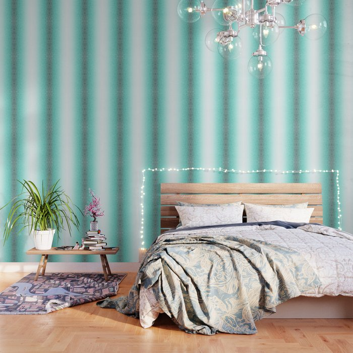 Faded Teal Blue And White Swirls Doodles Wallpaper By Savousepate