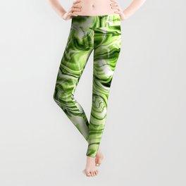 Green marble texture Leggings